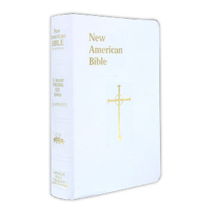Personal Size Bible White Cover With Cross Nabre 510 10w
