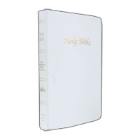 Personalize this White First Communion Bible