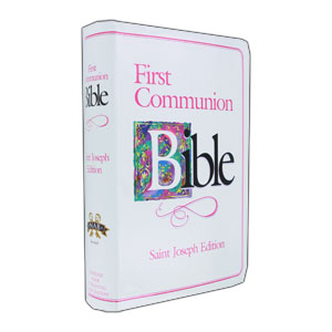 Girls First Communion Bible - St. Joseph Edition