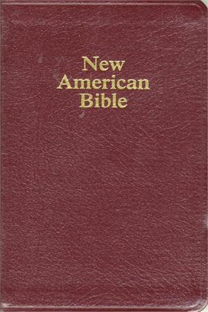 Gift & Award  Bible - Burgandy Leather Indexed NABRE