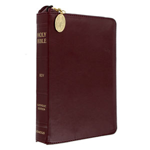Ignatius Compact Bible - Burgandy Zippered RSV