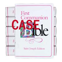 Case of 12 Girl's First Communion Bibles, St. Joseph Edition