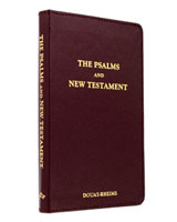 Douay-Rheims Pocket New Testament - Black Leather